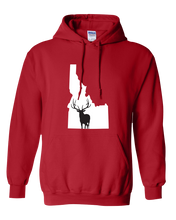 Load image into Gallery viewer, Pullover Hooded Sweatshirt Idaho Red Elk Vibrant Design High Quality Tight Knit Ring Spun Low Maintenance Cotton Printed With The Newest Available Color Transfer Technology