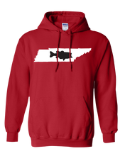 Load image into Gallery viewer, Pullover Hooded Sweatshirt Tennessee Red Large Mouth Bass Vibrant Design High Quality Tight Knit Ring Spun Low Maintenance Cotton Printed With The Newest Available Color Transfer Technology