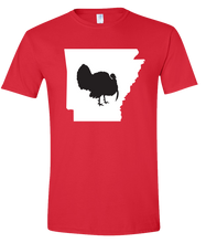 Load image into Gallery viewer, Short Sleeve T-Shirt Arkansas Red Turkey Vibrant Design High Quality Tight Knit Ring Spun Low Maintenance Cotton Printed With The Newest Available Color Transfer Technology