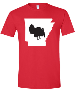 Short Sleeve T-Shirt Arkansas Red Turkey Vibrant Design High Quality Tight Knit Ring Spun Low Maintenance Cotton Printed With The Newest Available Color Transfer Technology