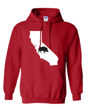 Load image into Gallery viewer, Pullover Hooded Sweatshirt California Red Wild Hog Vibrant Design High Quality Tight Knit Ring Spun Low Maintenance Cotton Printed With The Newest Available Color Transfer Technology