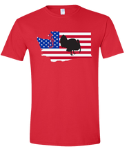 Load image into Gallery viewer, Short Sleeve T-Shirt Washington Red Turkey Vibrant Design High Quality Tight Knit Ring Spun Low Maintenance Cotton Printed With The Newest Available Color Transfer Technology