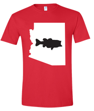 Load image into Gallery viewer, Short Sleeve T-Shirt Arizona Red Large Mouth Bass Vibrant Design High Quality Tight Knit Ring Spun Low Maintenance Cotton Printed With The Newest Available Color Transfer Technology