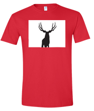 Load image into Gallery viewer, Short Sleeve T-Shirt Colorado Red Mule Deer Vibrant Design High Quality Tight Knit Ring Spun Low Maintenance Cotton Printed With The Newest Available Color Transfer Technology