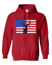 Load image into Gallery viewer, Pullover Hooded Sweatshirt Colorado Red Mule Deer Vibrant Design High Quality Tight Knit Ring Spun Low Maintenance Cotton Printed With The Newest Available Color Transfer Technology