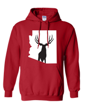 Load image into Gallery viewer, Pullover Hooded Sweatshirt Arizona Red Mule Deer Vibrant Design High Quality Tight Knit Ring Spun Low Maintenance Cotton Printed With The Newest Available Color Transfer Technology