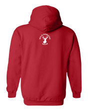 Load image into Gallery viewer, Pullover Hooded Sweatshirt Montana Red Black Bear Vibrant Design High Quality Tight Knit Ring Spun Low Maintenance Cotton Printed With The Newest Available Color Transfer Technology