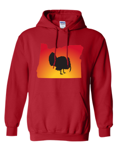 Pullover Hooded Sweatshirt Oregon Red Turkey Vibrant Design High Quality Tight Knit Ring Spun Low Maintenance Cotton Printed With The Newest Available Color Transfer Technology