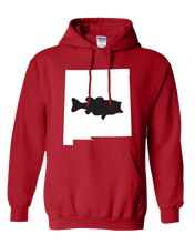 Load image into Gallery viewer, Pullover Hooded Sweatshirt New Mexico Red Large Mouth Bass Vibrant Design High Quality Tight Knit Ring Spun Low Maintenance Cotton Printed With The Newest Available Color Transfer Technology