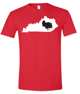 Short Sleeve T-Shirt Kentucky Red Turkey Vibrant Design High Quality Tight Knit Ring Spun Low Maintenance Cotton Printed With The Newest Available Color Transfer Technology