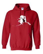 Load image into Gallery viewer, Pullover Hooded Sweatshirt Alaska Red Elk Vibrant Design High Quality Tight Knit Ring Spun Low Maintenance Cotton Printed With The Newest Available Color Transfer Technology