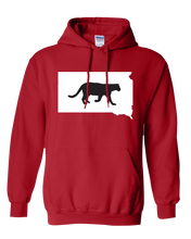 Load image into Gallery viewer, Pullover Hooded Sweatshirt South Dakota Red Mountain Lion Vibrant Design High Quality Tight Knit Ring Spun Low Maintenance Cotton Printed With The Newest Available Color Transfer Technology