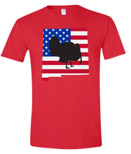 Load image into Gallery viewer, Short Sleeve T-Shirt New Mexico Red Turkey Vibrant Design High Quality Tight Knit Ring Spun Low Maintenance Cotton Printed With The Newest Available Color Transfer Technology