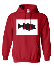 Load image into Gallery viewer, Pullover Hooded Sweatshirt Colorado Red Large Mouth Bass Vibrant Design High Quality Tight Knit Ring Spun Low Maintenance Cotton Printed With The Newest Available Color Transfer Technology