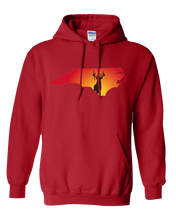 Load image into Gallery viewer, Pullover Hooded Sweatshirt North Carolina Red Whitetail Deer Vibrant Design High Quality Tight Knit Ring Spun Low Maintenance Cotton Printed With The Newest Available Color Transfer Technology