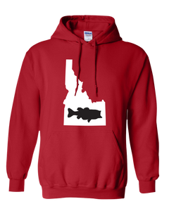 Pullover Hooded Sweatshirt Idaho Red Large Mouth Bass Vibrant Design High Quality Tight Knit Ring Spun Low Maintenance Cotton Printed With The Newest Available Color Transfer Technology