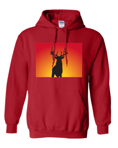 Pullover Hooded Sweatshirt Colorado Red Whitetail Deer Vibrant Design High Quality Tight Knit Ring Spun Low Maintenance Cotton Printed With The Newest Available Color Transfer Technology