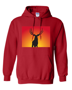 Pullover Hooded Sweatshirt Colorado Red Mule Deer Vibrant Design High Quality Tight Knit Ring Spun Low Maintenance Cotton Printed With The Newest Available Color Transfer Technology