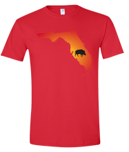 Load image into Gallery viewer, Short Sleeve T-Shirt Florida Red Wild Hog Vibrant Design High Quality Tight Knit Ring Spun Low Maintenance Cotton Printed With The Newest Available Color Transfer Technology