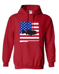 Pullover Hooded Sweatshirt New Mexico Red Large Mouth Bass Vibrant Design High Quality Tight Knit Ring Spun Low Maintenance Cotton Printed With The Newest Available Color Transfer Technology