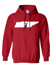 Load image into Gallery viewer, Pullover Hooded Sweatshirt Tennessee Red Whitetail Deer Vibrant Design High Quality Tight Knit Ring Spun Low Maintenance Cotton Printed With The Newest Available Color Transfer Technology