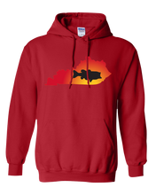 Load image into Gallery viewer, Pullover Hooded Sweatshirt Kentucky Red Large Mouth Bass Vibrant Design High Quality Tight Knit Ring Spun Low Maintenance Cotton Printed With The Newest Available Color Transfer Technology
