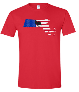 Short Sleeve T-Shirt Massachusetts Red Turkey Vibrant Design High Quality Tight Knit Ring Spun Low Maintenance Cotton Printed With The Newest Available Color Transfer Technology