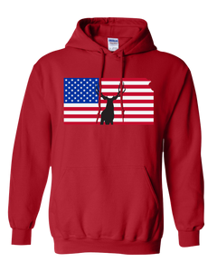 Pullover Hooded Sweatshirt Kansas Red Mule Deer Vibrant Design High Quality Tight Knit Ring Spun Low Maintenance Cotton Printed With The Newest Available Color Transfer Technology