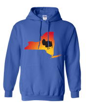 Load image into Gallery viewer, Pullover Hooded Sweatshirt New York Royal Turkey Vibrant Design High Quality Tight Knit Ring Spun Low Maintenance Cotton Printed With The Newest Available Color Transfer Technology