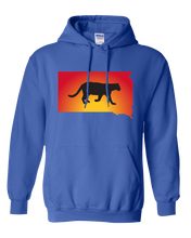 Load image into Gallery viewer, Pullover Hooded Sweatshirt South Dakota Royal Mountain Lion Vibrant Design High Quality Tight Knit Ring Spun Low Maintenance Cotton Printed With The Newest Available Color Transfer Technology