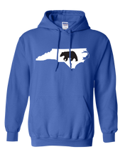 Load image into Gallery viewer, Pullover Hooded Sweatshirt North Carolina Royal Black Bear Vibrant Design High Quality Tight Knit Ring Spun Low Maintenance Cotton Printed With The Newest Available Color Transfer Technology
