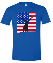 Load image into Gallery viewer, Short Sleeve T-Shirt New Mexico Royal Mule Deer Vibrant Design High Quality Tight Knit Ring Spun Low Maintenance Cotton Printed With The Newest Available Color Transfer Technology