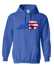 Load image into Gallery viewer, Pullover Hooded Sweatshirt Kentucky Royal Elk Vibrant Design High Quality Tight Knit Ring Spun Low Maintenance Cotton Printed With The Newest Available Color Transfer Technology