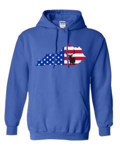 Pullover Hooded Sweatshirt Kentucky Royal Elk Vibrant Design High Quality Tight Knit Ring Spun Low Maintenance Cotton Printed With The Newest Available Color Transfer Technology