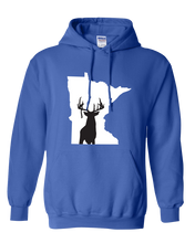 Load image into Gallery viewer, Pullover Hooded Sweatshirt Minnesota Royal Whitetail Deer Vibrant Design High Quality Tight Knit Ring Spun Low Maintenance Cotton Printed With The Newest Available Color Transfer Technology