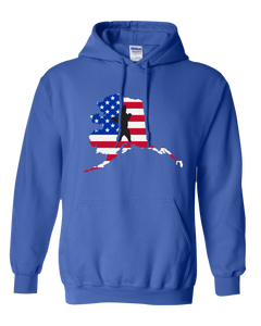 Pullover Hooded Sweatshirt Alaska Royal Brown Bear Vibrant Design High Quality Tight Knit Ring Spun Low Maintenance Cotton Printed With The Newest Available Color Transfer Technology