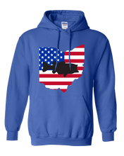 Load image into Gallery viewer, Pullover Hooded Sweatshirt Ohio Royal Large Mouth Bass Vibrant Design High Quality Tight Knit Ring Spun Low Maintenance Cotton Printed With The Newest Available Color Transfer Technology