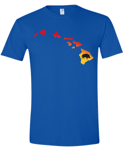 Short Sleeve T-Shirt Hawaii Royal Wild Hog Vibrant Design High Quality Tight Knit Ring Spun Low Maintenance Cotton Printed With The Newest Available Color Transfer Technology