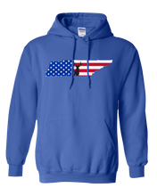 Load image into Gallery viewer, Pullover Hooded Sweatshirt Tennessee Royal Whitetail Deer Vibrant Design High Quality Tight Knit Ring Spun Low Maintenance Cotton Printed With The Newest Available Color Transfer Technology