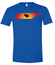 Load image into Gallery viewer, Short Sleeve T-Shirt Tennessee Royal Turkey Vibrant Design High Quality Tight Knit Ring Spun Low Maintenance Cotton Printed With The Newest Available Color Transfer Technology