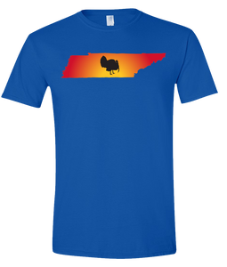 Short Sleeve T-Shirt Tennessee Royal Turkey Vibrant Design High Quality Tight Knit Ring Spun Low Maintenance Cotton Printed With The Newest Available Color Transfer Technology