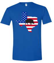 Load image into Gallery viewer, Short Sleeve T-Shirt Texas Royal Wild Hog Vibrant Design High Quality Tight Knit Ring Spun Low Maintenance Cotton Printed With The Newest Available Color Transfer Technology