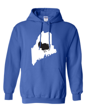 Load image into Gallery viewer, Pullover Hooded Sweatshirt Maine Royal Turkey Vibrant Design High Quality Tight Knit Ring Spun Low Maintenance Cotton Printed With The Newest Available Color Transfer Technology