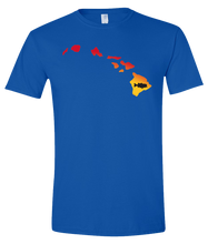Load image into Gallery viewer, Short Sleeve T-Shirt Hawaii Royal Large Mouth Bass Vibrant Design High Quality Tight Knit Ring Spun Low Maintenance Cotton Printed With The Newest Available Color Transfer Technology