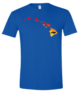 Short Sleeve T-Shirt Hawaii Royal Large Mouth Bass Vibrant Design High Quality Tight Knit Ring Spun Low Maintenance Cotton Printed With The Newest Available Color Transfer Technology