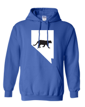 Load image into Gallery viewer, Pullover Hooded Sweatshirt Nevada Royal Mountain Lion Vibrant Design High Quality Tight Knit Ring Spun Low Maintenance Cotton Printed With The Newest Available Color Transfer Technology