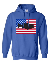 Load image into Gallery viewer, Pullover Hooded Sweatshirt Colorado Royal Large Mouth Bass Vibrant Design High Quality Tight Knit Ring Spun Low Maintenance Cotton Printed With The Newest Available Color Transfer Technology