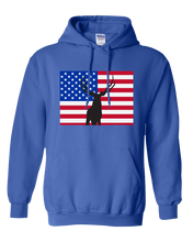 Load image into Gallery viewer, Pullover Hooded Sweatshirt Colorado Royal Mule Deer Vibrant Design High Quality Tight Knit Ring Spun Low Maintenance Cotton Printed With The Newest Available Color Transfer Technology