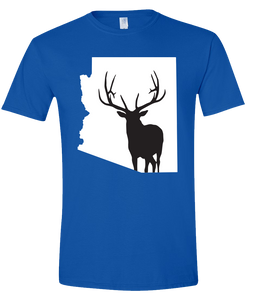 Short Sleeve T-Shirt Arizona Royal Elk Vibrant Design High Quality Tight Knit Ring Spun Low Maintenance Cotton Printed With The Newest Available Color Transfer Technology