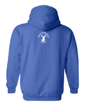 Load image into Gallery viewer, Pullover Hooded Sweatshirt North Dakota Royal Mule Deer Vibrant Design High Quality Tight Knit Ring Spun Low Maintenance Cotton Printed With The Newest Available Color Transfer Technology